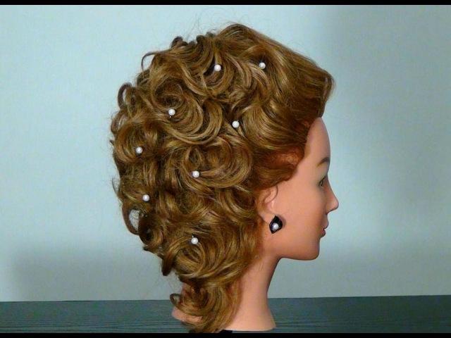 Причёски на средние волосы вечерние