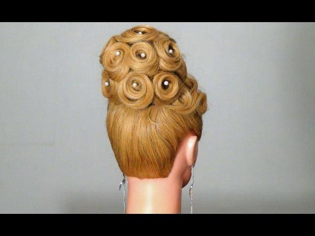 Вечерние причёски на длинные волосы видео своими руками